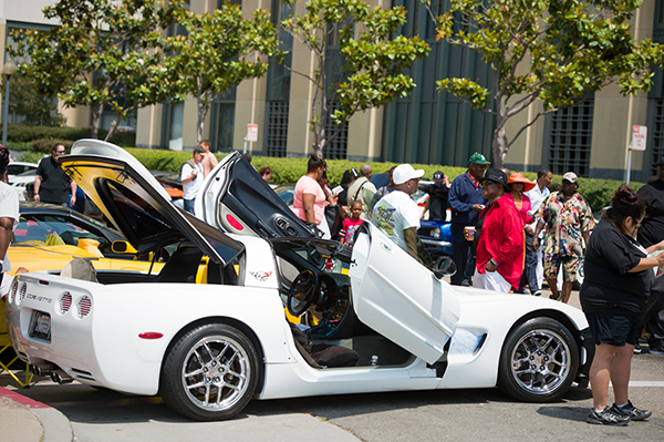 photo of classic car show at Art + Soul