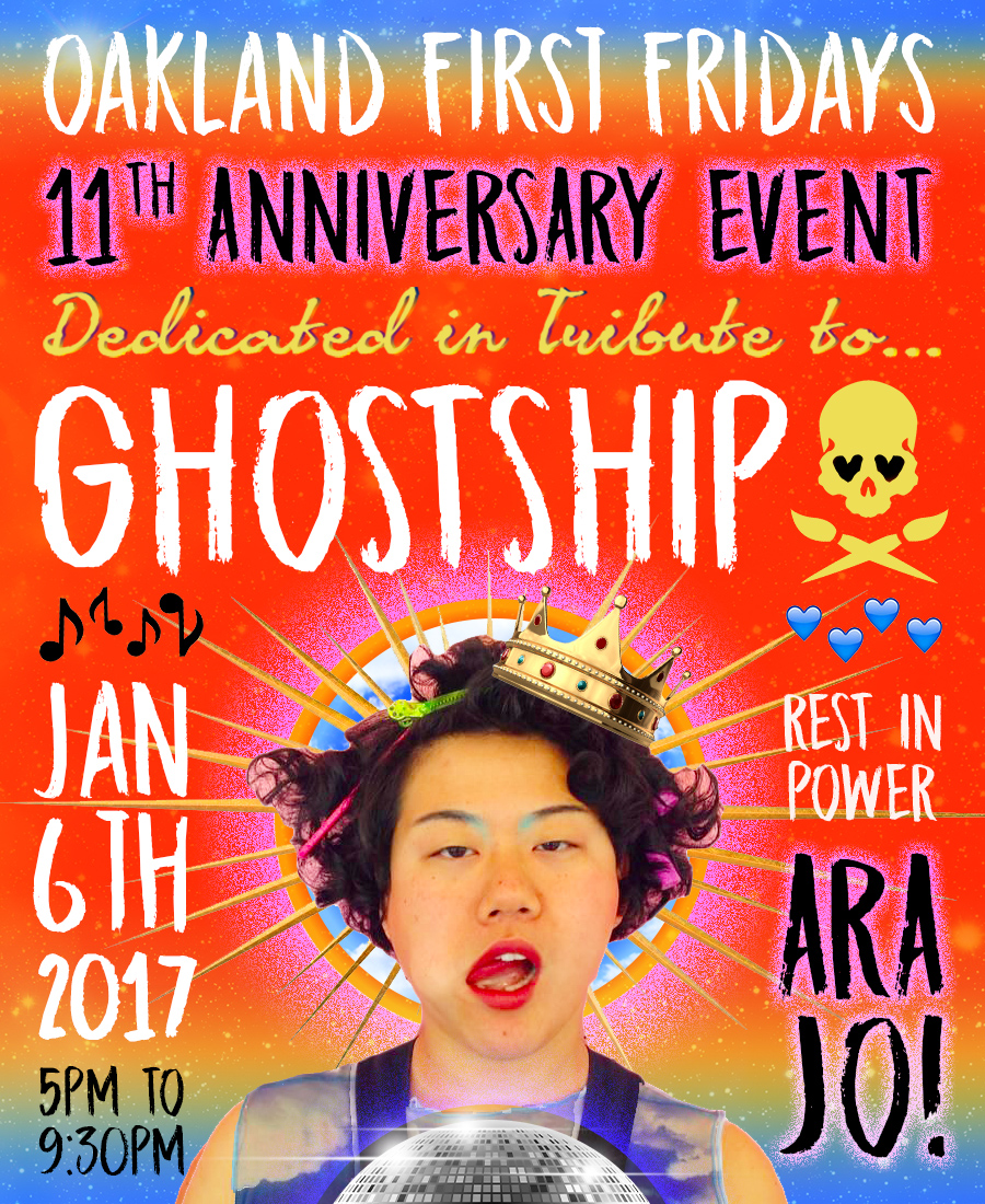 Oakland First Friday: 11th Anniversary Event + Ghostship Tribute @ Telegraph Avenue, uptown | Oakland | California | United States